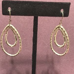 Blingy oblong drop hoop earrings. 3/$12 Sale